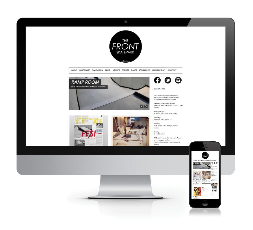 web design company dorset - weymouth skatepark website - the front skatepark