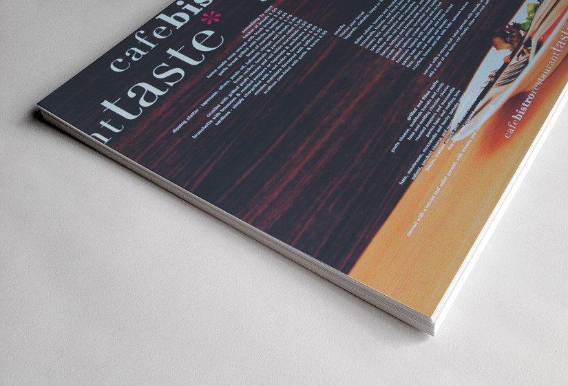 menu design dorset