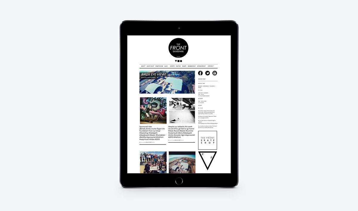 web_design_dorset_the_front_skatepark_ipad