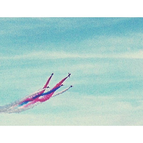 Red Arrows getting their display on.