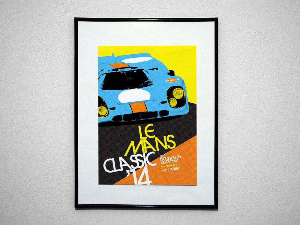 Porsche-Poster