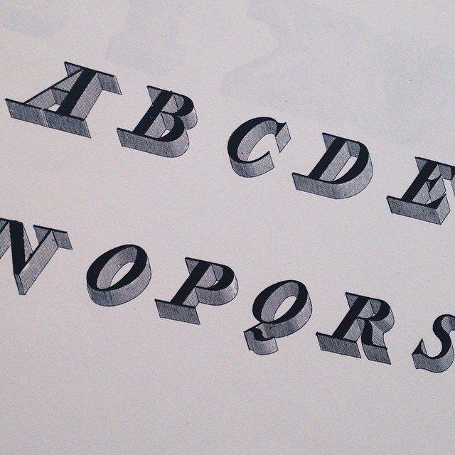 ALPHABET ALBUM by J.B. Silvestre: plate 97. 19th century typography #type #typography