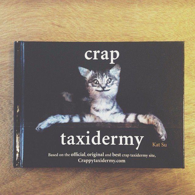 An early Christmas present from our intern Phoebe Taylor. She has great taste. #craptaxidermy