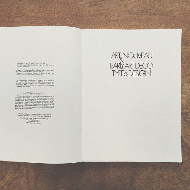 #artnouveau #artdeco #type #design #typebook #graphicdesign #design