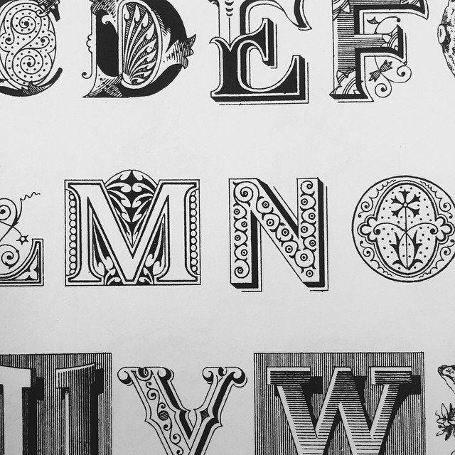 #ornamental #type #typebook #typography #typespecimen #graphic #graphicdesign