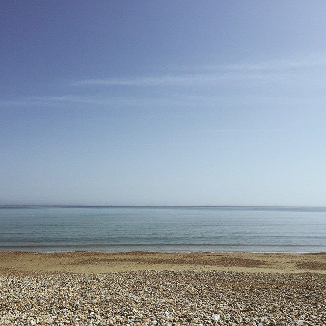 Today's lunch was taken on the beach. #dorset