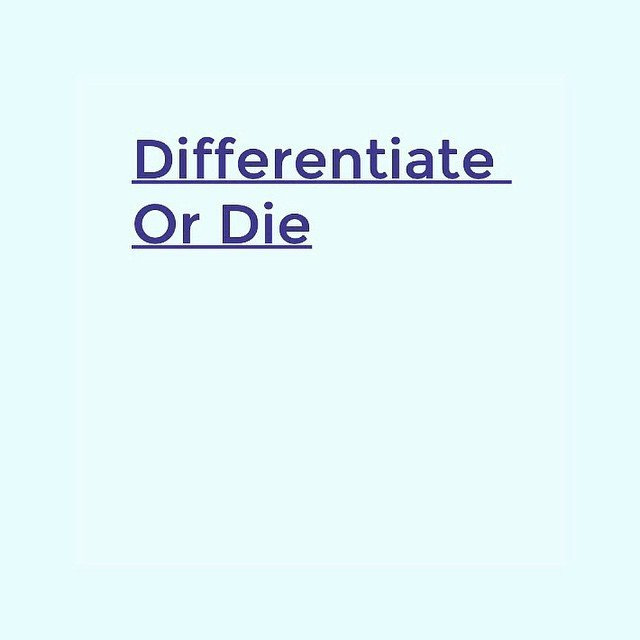 Differentiate Or Die #graphic #graphicdesign #artdirection #type #typography