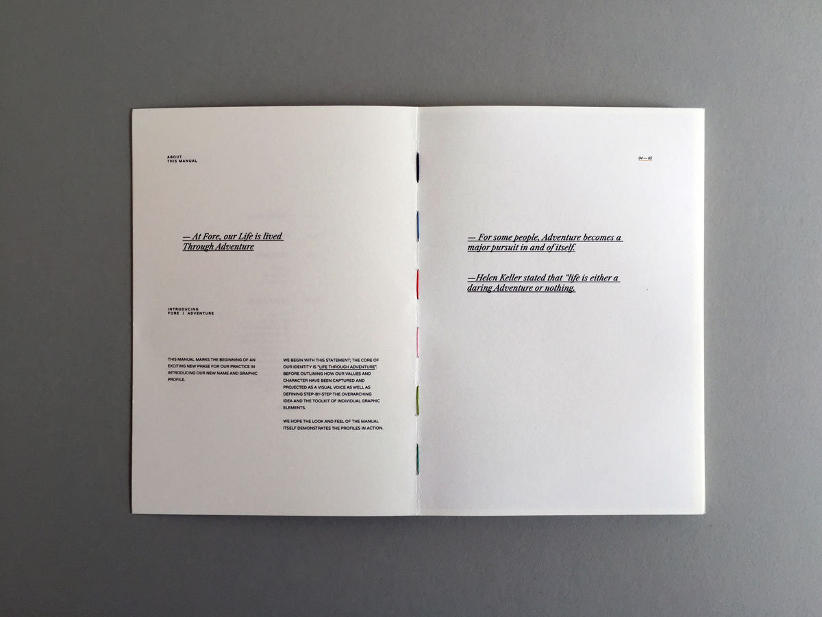 hand stitched book