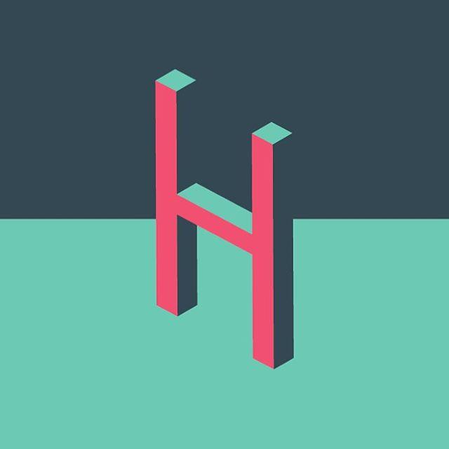 H — #wip #workinprogress #work #design #typography #logo #graphicdesign #grafik