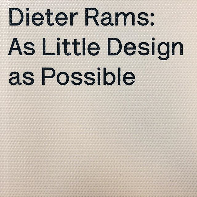 From The library — Studio Reading.Dieter Rams / Sophie Lovell.#design #aslittledesignaspossible #product #process