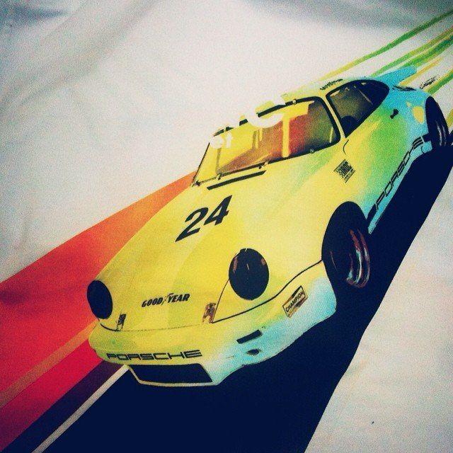 One of our 1970s inspired Porsche 911 t-shirt designs. #911 #porsche #dorset #dorsethour