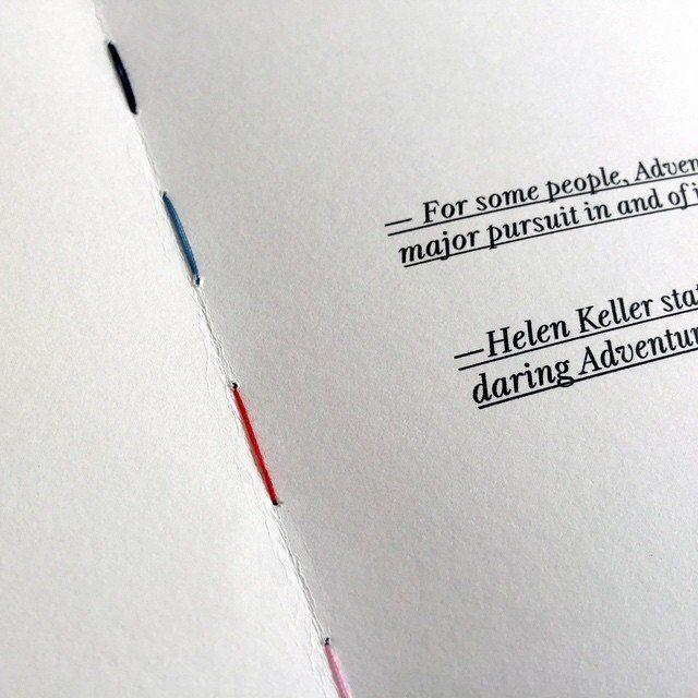 Coloured stitching — Brand Book #graphic #graphicdesign #design #designagency #brandbook #bookdesign #bookbinding #brandingagency
