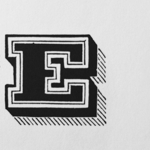 E — #e #type #typebook #typedesign #typedesign #typeshading #typespecimen #grafik #graphic #graphicdesign