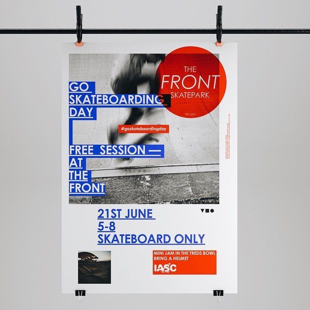 New work — The Front Skatepark Charity #goskateboardingday #grafik #graphic #graphicdesign #type #typography #poster #charity