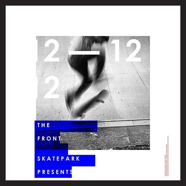 New work — @thefrontskatepark #graphic #grafik #graphicdesign #design #skate #skateboarding #skateboard #poster