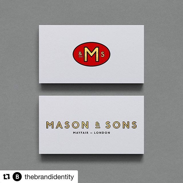 #Repost @thebrandidentity・・・Mason & Sons by @supreme_dba-See more on the sitewww.the-brandidentity.com-#logo #branding #brandidentity #logotype #graphicdesign #design #contemporary #typography #studio